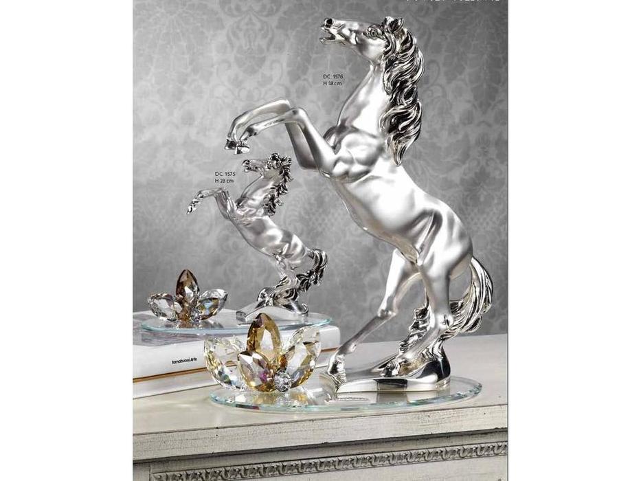 DC: Cavallo: статуэтка  Лошадь (серебо, кристаллы)