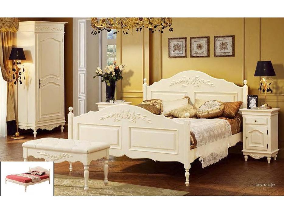 Bianca Ferrari: Provence: кровать 180х200  с низ.изножьем (слоновая кость)