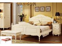 Bianca Ferrari: Provence: кровать 160х200  с низ.изножьем(слоновая кость)