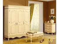 Bianca Ferrari: Provence: шкаф 3-дв.  (слоновая кость, золото)