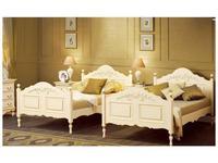 Bianca Ferrari: Provence: кровать 120х200  с выс.изн. (слоновая кость, золото)