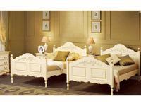 Bianca Ferrari: Provence: кровать 160х200  с выс.изн. (слоновая кость, золото)