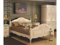Bianca Ferrari: Provence: кровать 120х200  с выс.изн. (слоновая кость, роспись)