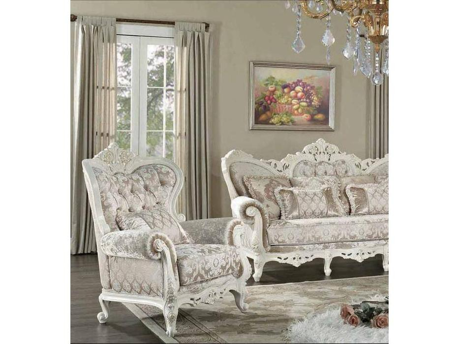 AV: Napoleon: кресло  (белый, ткань)