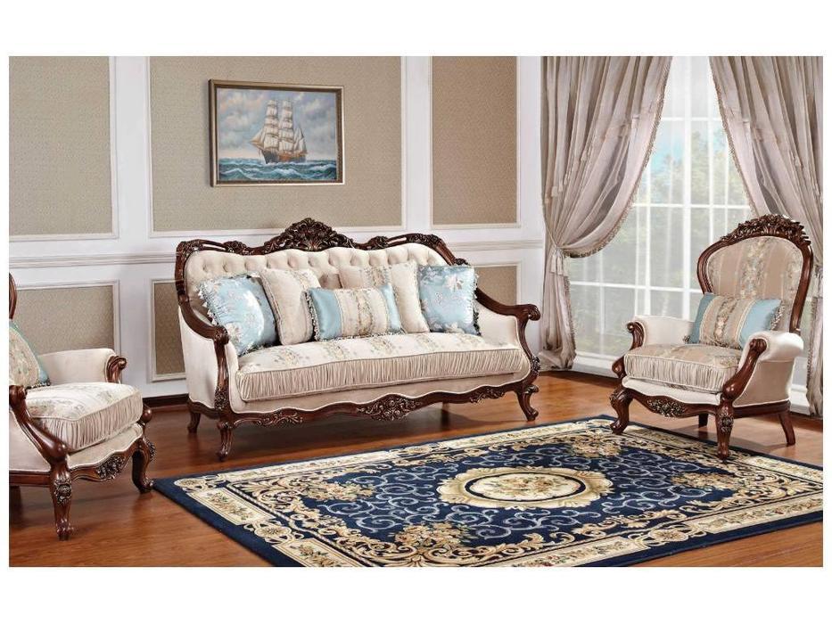 AV: Ayvengo: диван 3-х местный (орех, ткань)