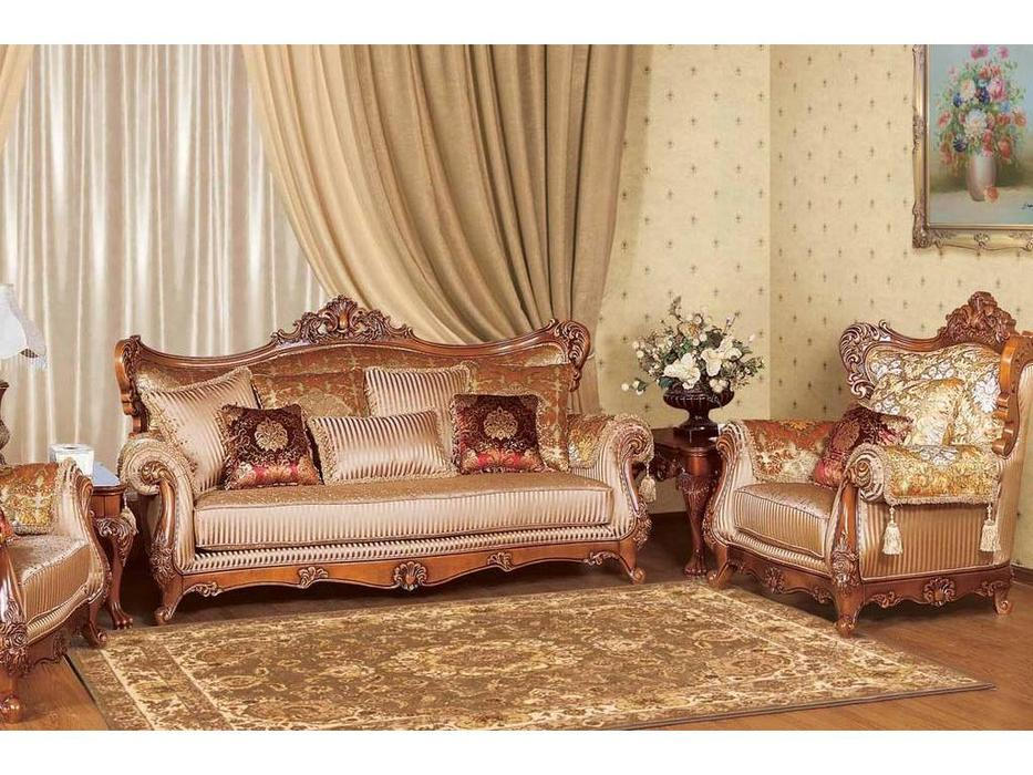 AV: Germes: диван 3-х местный раскладной (орех, ткань)