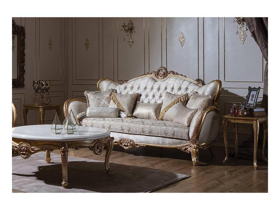 AV: Bourgeois: диван 3 местный (золотая патина)