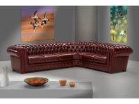 Cubo Rosso: Chester: диван угловой (кожа, коричневый)
