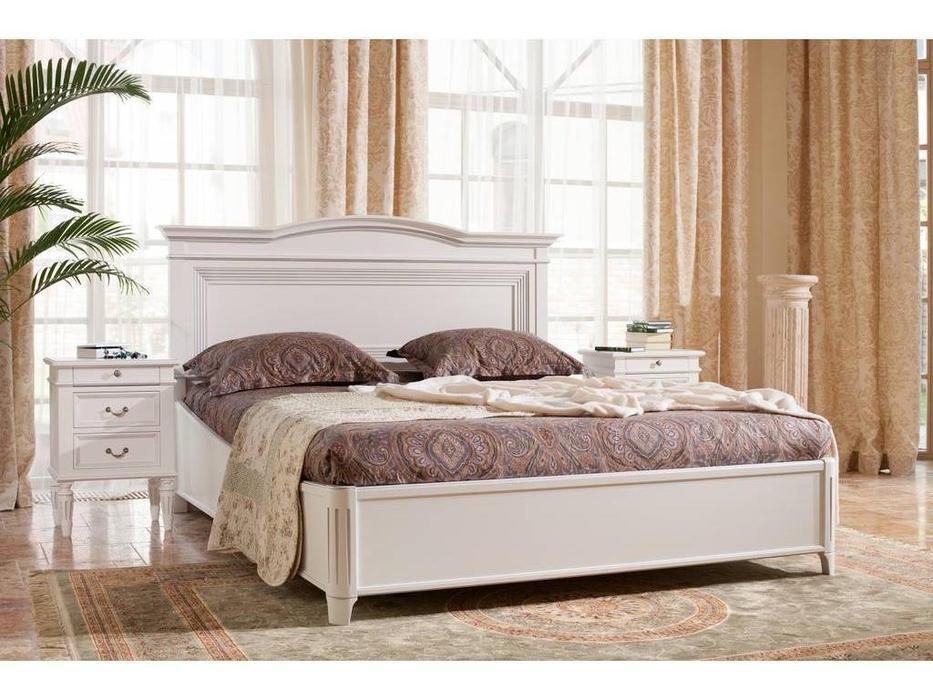 Mmobili: Signoria: кровать 180х200  (белый с патиной)