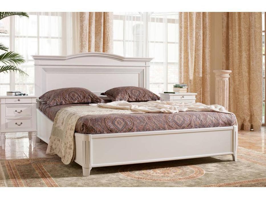 Mmobili: Signoria: кровать  180х200 с подъемным мех-м (белый с патиной)