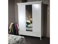 Mmobili: Buongiorno: шкаф 3 дверный с зеркалом (белый)