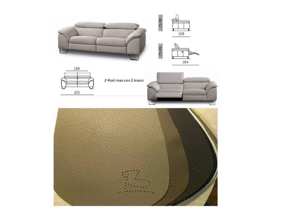 Bruma: Divice: диван 2-х местный  с электрическим реклайнером (кожа)