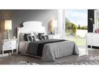 Lino: Dafne: кровать 150  (белый блестящий)