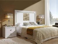Lino: Helios: кровать 150  (белый блестящий, посеребренный)