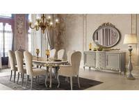 Stella Del Mobile: Le Rose: стол обеденный раскладной  (tortora patina avorio)