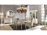 Stella Del Mobile: Le Rose: стол обеденный раскладной  (blanco, antiq naturale)