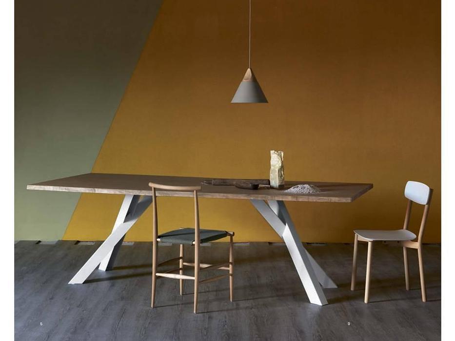 Miniforms: Gustave: стол обеденный  (дуб, белый)