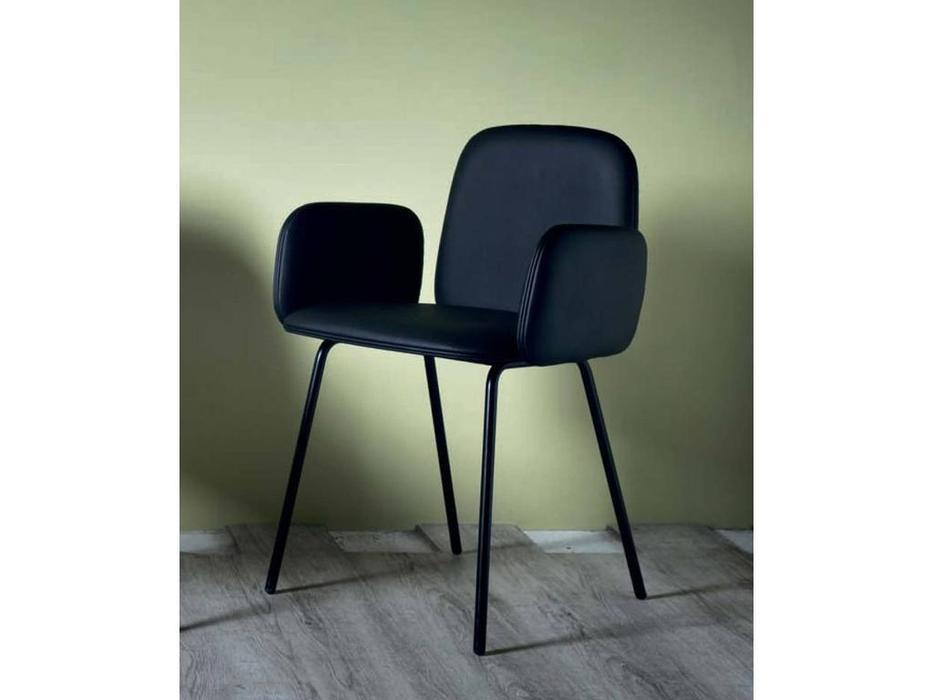 Miniforms: Leda: стул с подлокотниками  (черный)