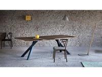 Miniforms: Gustave: стол обеденный  (орех, антрацит)