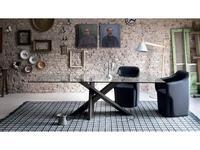 Miniforms: Tripode: стол обеденный  (темный дуб)