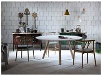 Miniforms: Pixie: стол обеденный  (белый, дуб)