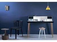 Miniforms: Bardino: стол письменный  (бук, черный, белый лак)