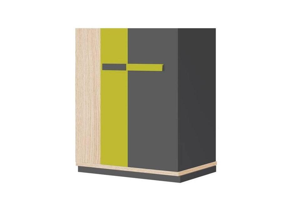 Szynaka: Wow: шкаф 2-х дверный  (дуб, графит, зеленый)