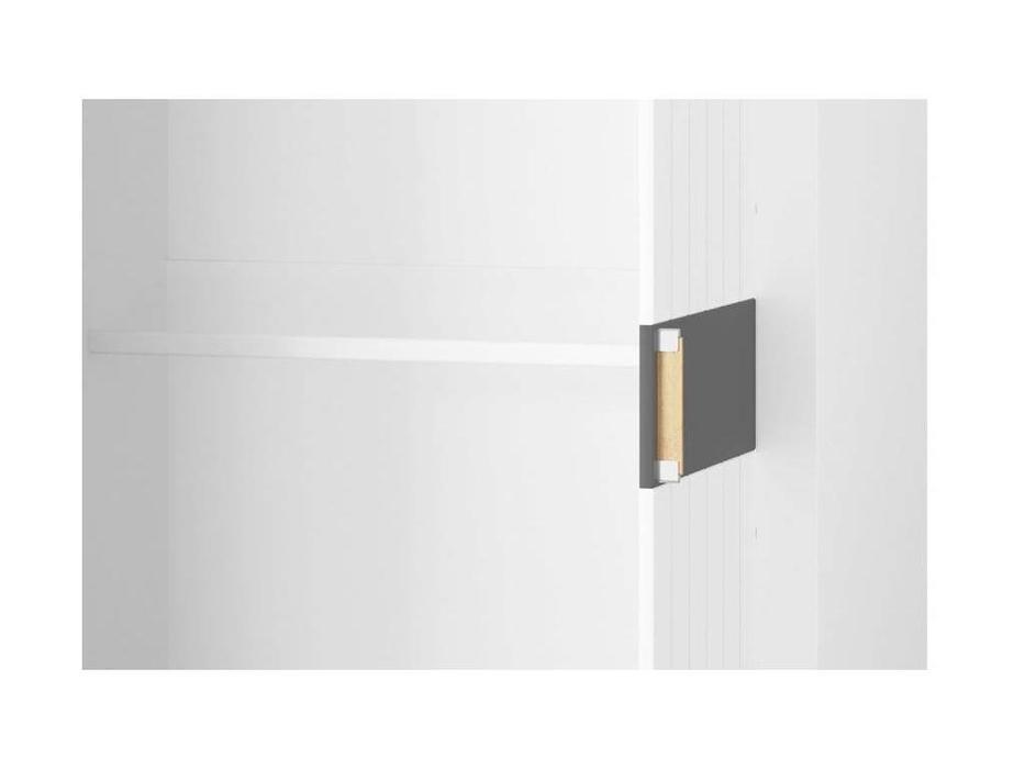 Szynaka: Picolo: шкаф 2 дверный  (белый, серый)