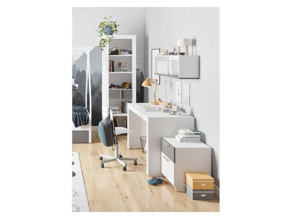Szynaka: Picolo: стол письменный  (белый, серый)