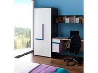 Szynaka: IKAR: шкаф 2-х дверный  ручки U2+U4 (bicolore)