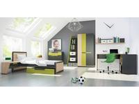 Szynaka: Wow: детская комната (дуб, графит, зеленый)