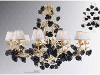 Stillux: Romantic: люстра подвесная  (Foglia oro, black)