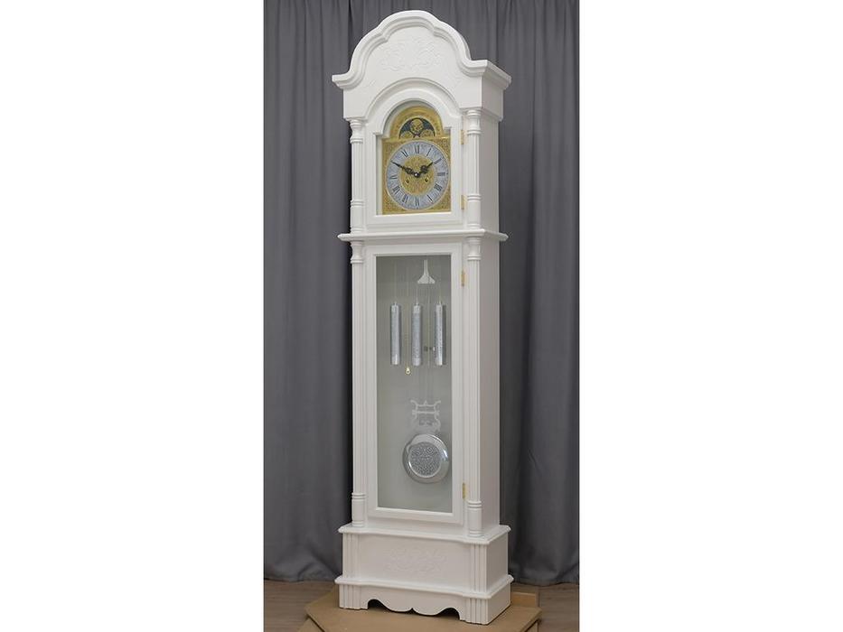 Columbus: Снежный Лорд: часы напольные  (белая шагрень)