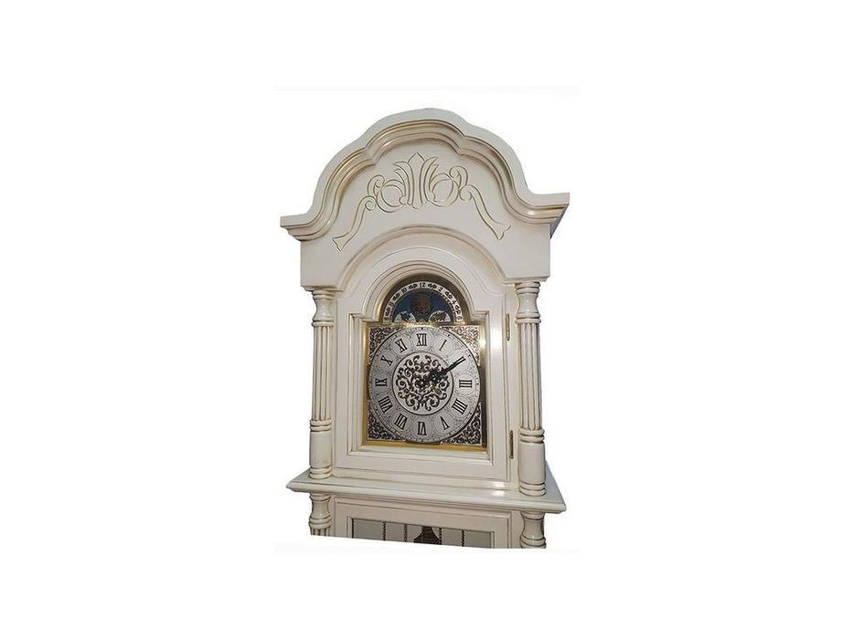 Columbus: Снежный Лорд: часы напольные  (белый, золото)