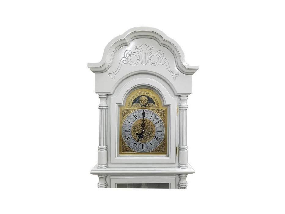 Columbus: Снежный Лорд: часы напольные  (белый, серебро)