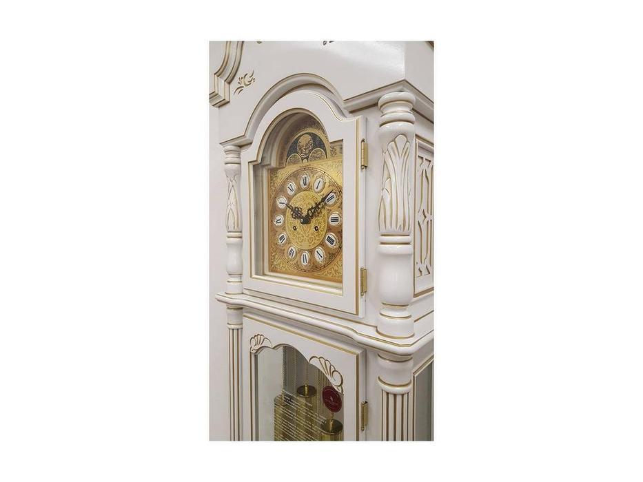 Columbus: Белый лев: часы напольные  (белый)