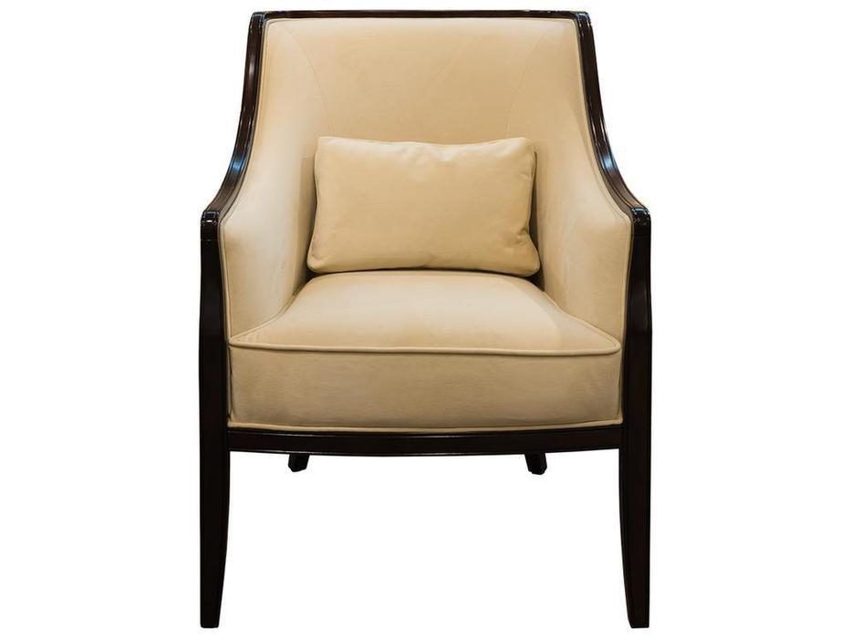 Fratelli Barri: Mestre: кресло  ткань кремовый велюр (шпон махагон)
