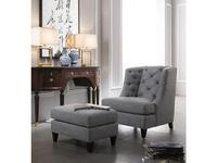 Fratelli Barri: Mestre: кресло  (махагон, серо-голубая рогожка)