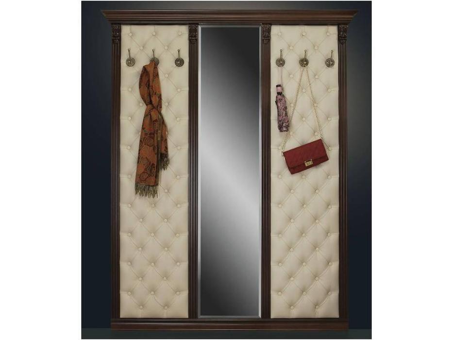 Благо: вешалка с 6 крючками и зеркалом   Б-5  (орех)