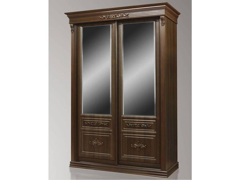 Благо: шкаф-купе  2 дв. C зеркалом (орех)
