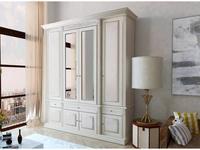 Благо: шкаф 4 дверный  с декором (карамель, беж)