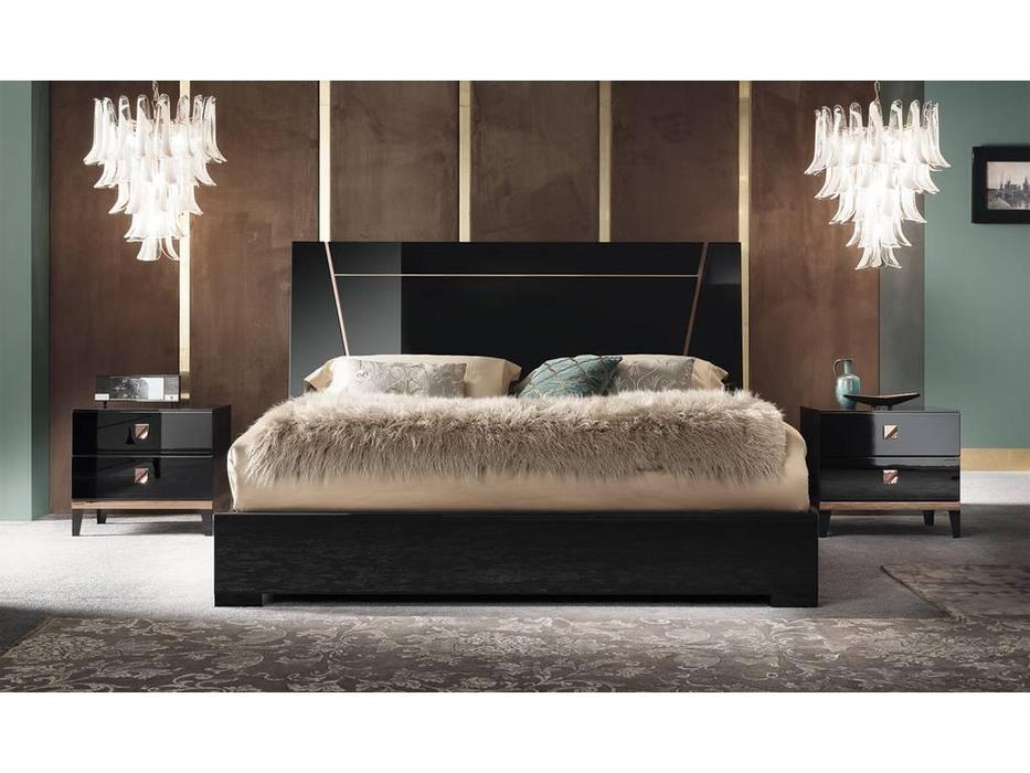 ALF: Mont Noir: кровать 160х200  (black high gloss)