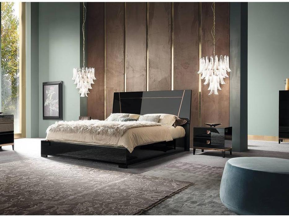 ALF: Mont Noir: кровать 180х200  (black high gloss)