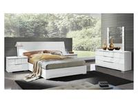 ALF: Asti: кровать 157х207 Квин Сайз  (лак белый)