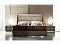 ALF: Monaco: кровать 160х200  (gris,ecopiel)