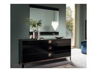 ALF: Mont Noir: зеркало настенное  (black high gloss)
