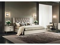 ALF: Mont Blanc: кровать 180х200  с мягким изголовьем (крем)