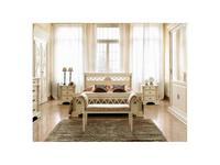 Saoncella: Puccini: кровать 160х200  (белый античный, золото)