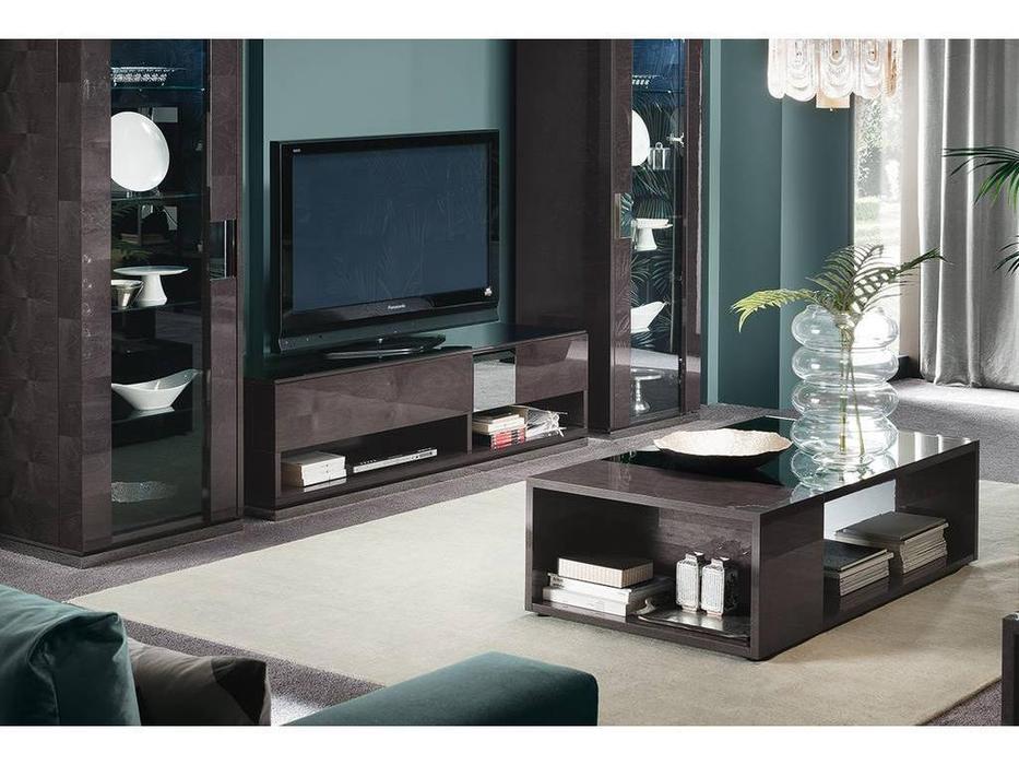 ALF: Heritage: тумба под телевизор  (dark velvet birch high gloss)