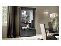 ALF: Montecarlo: витрина 2-х дверная с подсветкой  (серый)